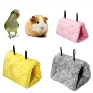 $14.90 (BN) Plush Bird and hamster Hanging Cave Cage Snuggle Happy Hut Tent Bed Bunk Toy Parrot Hammock