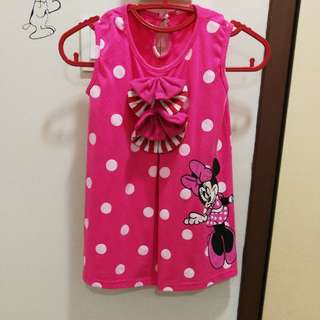 Little Girl Minnie Mouse Dress