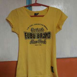 Fubu Tshirt Yellow