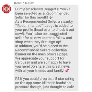 Recommended Seller! 🎉
