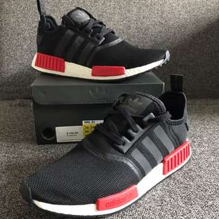 New Adidas Nmd R1 Mesh Black Red US 12