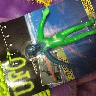 @1996 美國蘇聯 UFO FILES 秘密檔案 外星人 鐵絲 變形 異形 機械人 早期 復古 可動 夜光