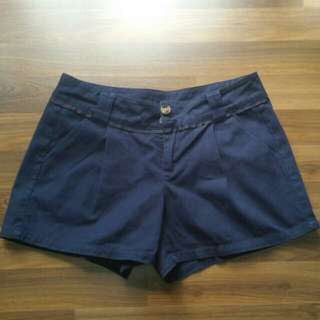 Cute Shorts From Korea In Navy Blue