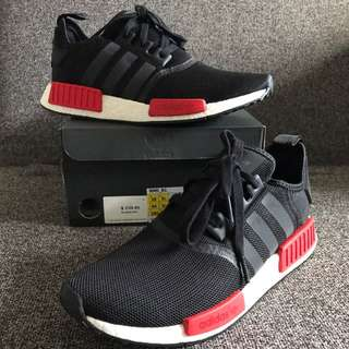 New Adidas Nmd R1 Black Red US 10