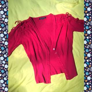 Body And Soul Red Cardigan