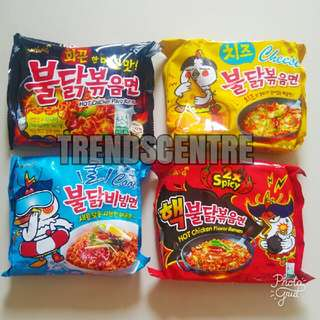 Samyang Buldak Spicy Chicken Stir Fried Ramen Korean Fire Noodles Challenge