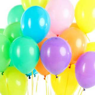Plain Round Balloons (10 inches)