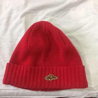ROOTS紅色毛帽