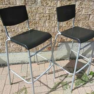 Black Metal Bar Chairs