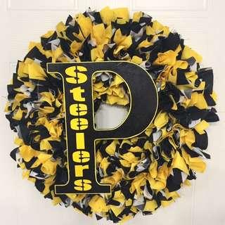 Pittsburg Steelers Handmade Wreaths