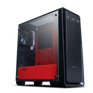 Tecware Edge TG Tempered Glass Clear View ATX Gaming Casing / Chassis (Red, White or black)
