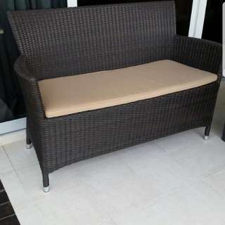 2 Seater Outdoor Rattan Sofa