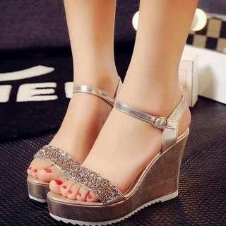 💋Sparkling Wedge Sandals