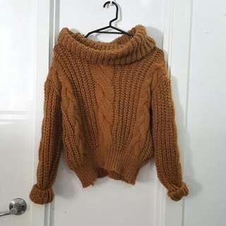 Camel Turtle Neck Knit