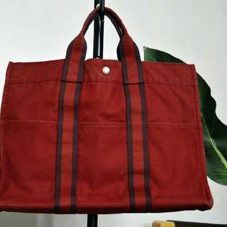 Authentic Hermes Fourre Tout MM tote hand bag