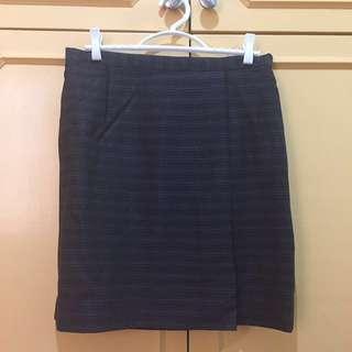 Black Pencil Suit Skirt