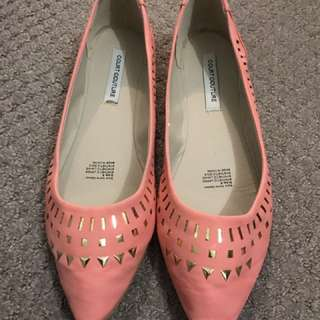 Court Couture Flat Shoes Coral