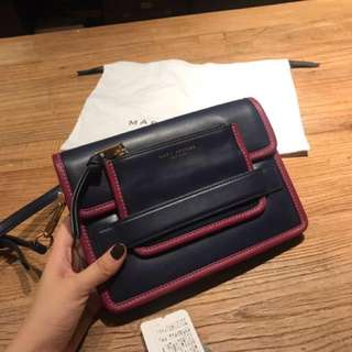 正品 Marc jacobs Madison 撞色皮革 斜背 側背 小包