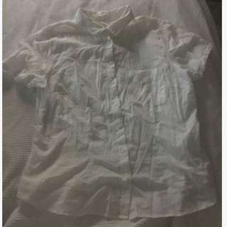 White button up h&m top