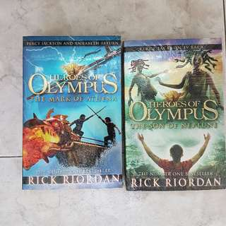 BNIB SEALED PERCY JACKSON AND THE MARK OF ATHENA + SON OF NEPTUNE