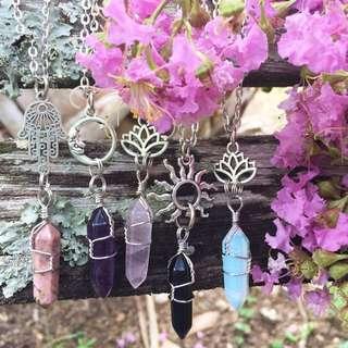 水晶與花精的項鍊