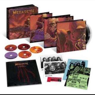English Music CD : Megadeth 20th Anniversary 3 Vinyl LP + 5 CD Box Set With Memorabilia
