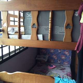 Double deck bed frame