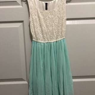 Mint And White Miss Shop Dress