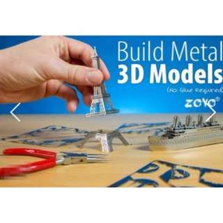 Brand New Do It Yourself Metal 3D Models