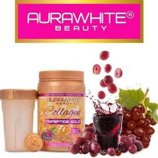 InStock, AuraWhite Beauty Collagen Tripeptide Gold.