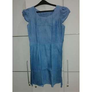 Dress, Jeans, Soft Blue, Uk. M
