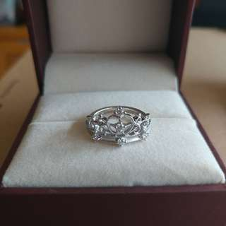 Pinkbox Esther 皇冠戒指 20份鑽石 10.5號圈