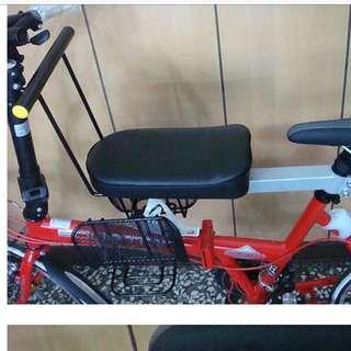 全新轉賣  腳踏車座墊 裝置成親子車