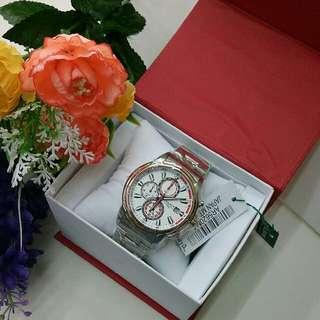 雅寶金銀運動計時腕表