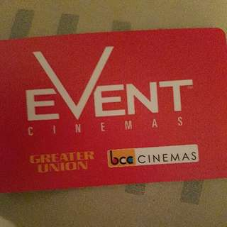 $30 Event Cinemas Gift Card