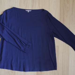 Uniqlo navy blue blouse