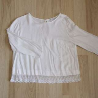 Bershka crop blouse