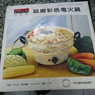 三星牌琺瑯彩色電火鍋(代售)