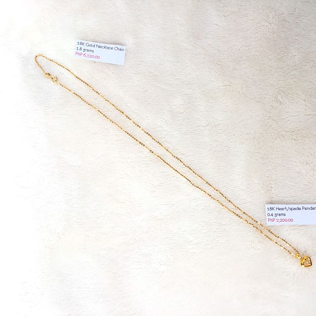 18K Gold Necklace Chain