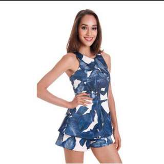 MDS Overlay Leafy Romper (S)