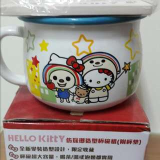 HELLO KITTY造型杯碗組