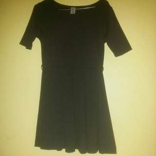 Cute Black Dress With Belt
