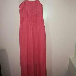 Coral/Peach Maxi Dress