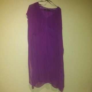 David Lawrence Purple Dress