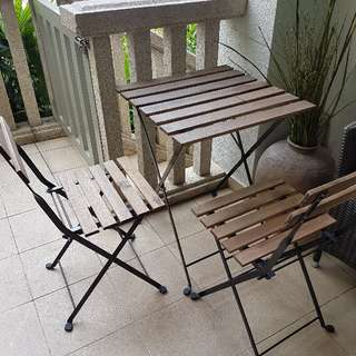Ikea Outdoor Table With 2 Chairs