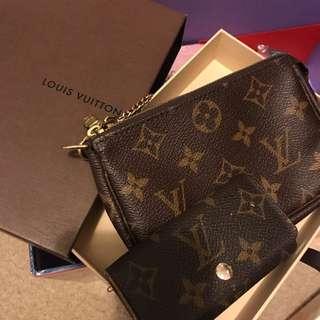 Authentic Louis Vuitton Key Holder & Small Bag