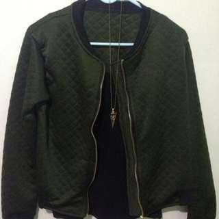 🦋Army Green Bomber Jacket
