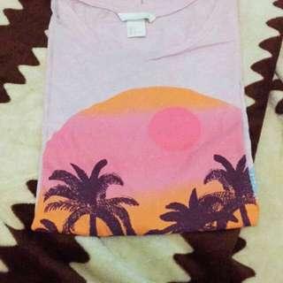 h&m hawai t-shirt