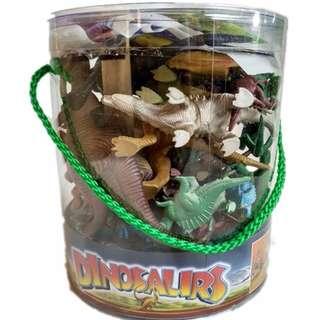 🚚 仿真動物模型 大桶裝恐龍模型恐龍玩具