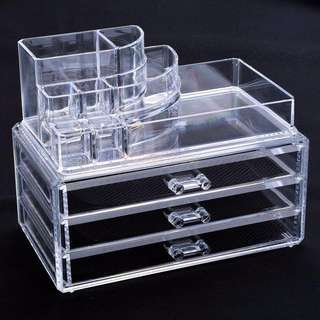 ACRYLIC MAKEUP DRAWER SET ORGANISER